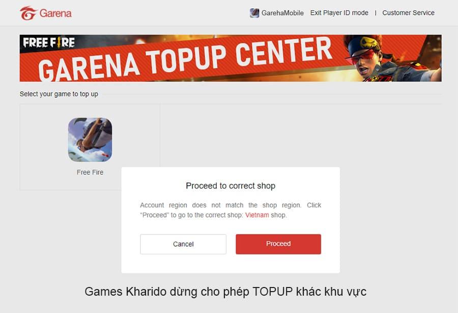 Nạp thẻ free fire games kharido